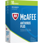 McAfee Antivirus 2017 - Subscrição de 1 ano - 10 dispositivos - Win, Mac, Android, iOS - Português (mini-box)