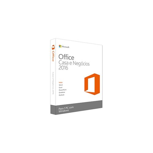 Microsoft Office 2016 Casa e Negócios (All Languages) 1 PC